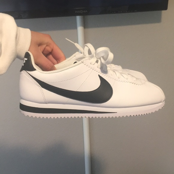 size 40 f2fdf fa171 Black and white Cortez sneakers!